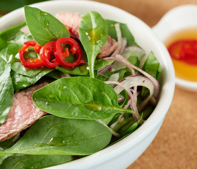 Thai Spinach & Beef Salad